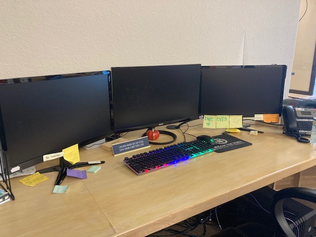 Picture of Tyler's Desk